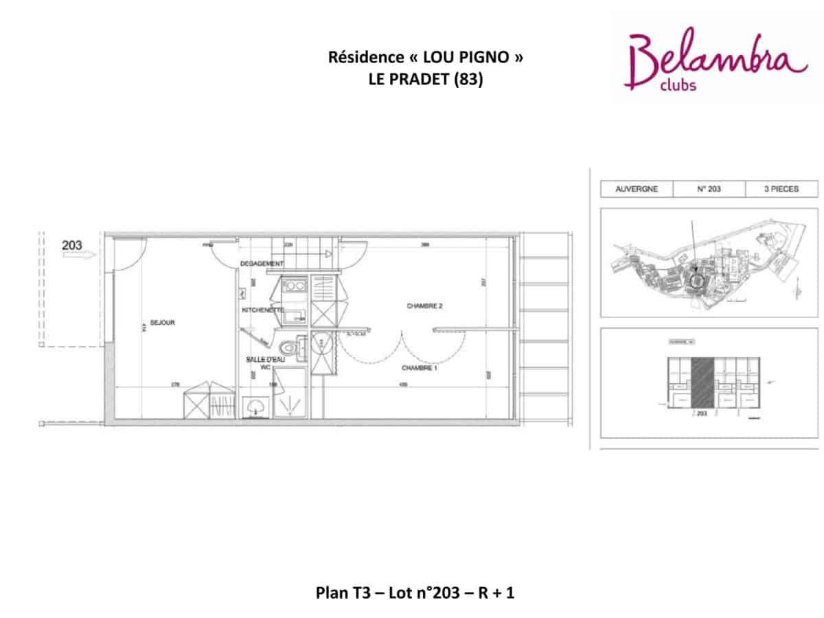 N°203 - T3 - R+1 - Terrasse 15,58 m²