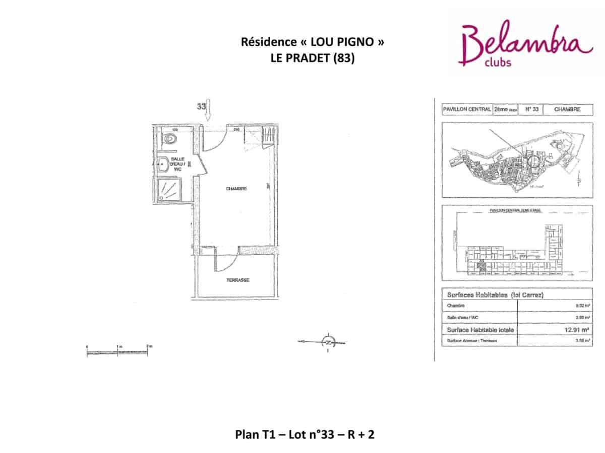 N°33 - T1 - R+2 - Balcon 3 m²